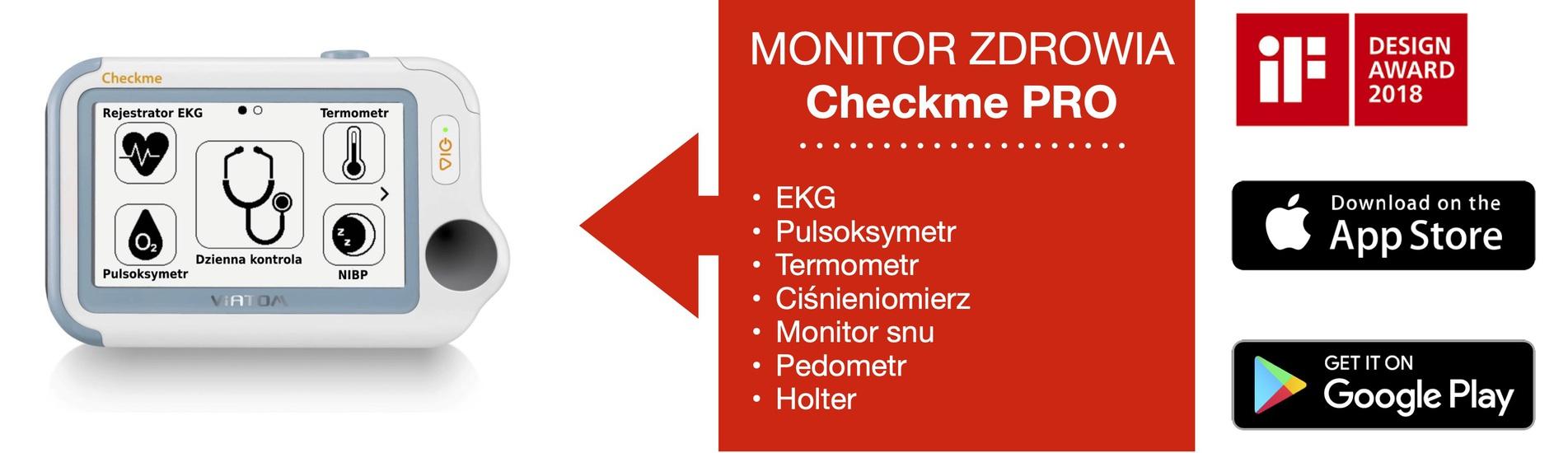 Monitor zdrowia: EKG Holter Pulsoksymetr Termometr